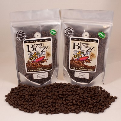 100% Ka'u Premium Black Label Peaberry Coffee